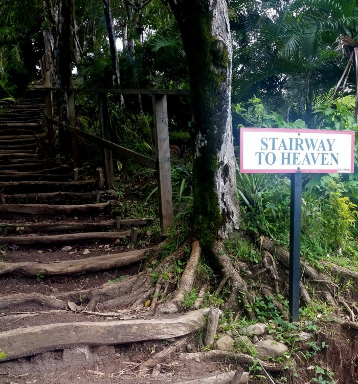 Piton Heights, Pitons, stairway to heaven